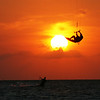 Oct '08: Tarpon Springs Sunset: Kiteboarders : Hey guys...been busy since getting home...give me another day or two and I'll add the rest.  I will make the pics available for sale...8x10($10) or 11x14($20) plus shipping. Don't know what type of pics you guys are used to seeing of you when playing at the end of the day but I found a number of them I liked.  Like this 1st one....hope you can tell who's who...this was from the first night I shot.  Later....Safe 'boarding juju....CurtisG